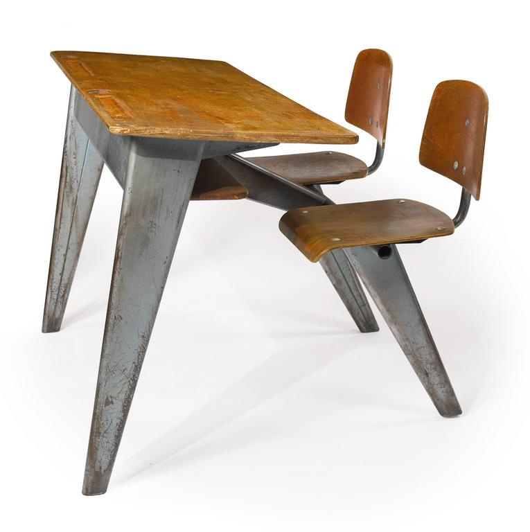 1946 Students' Desk by Jean Prouvé 8