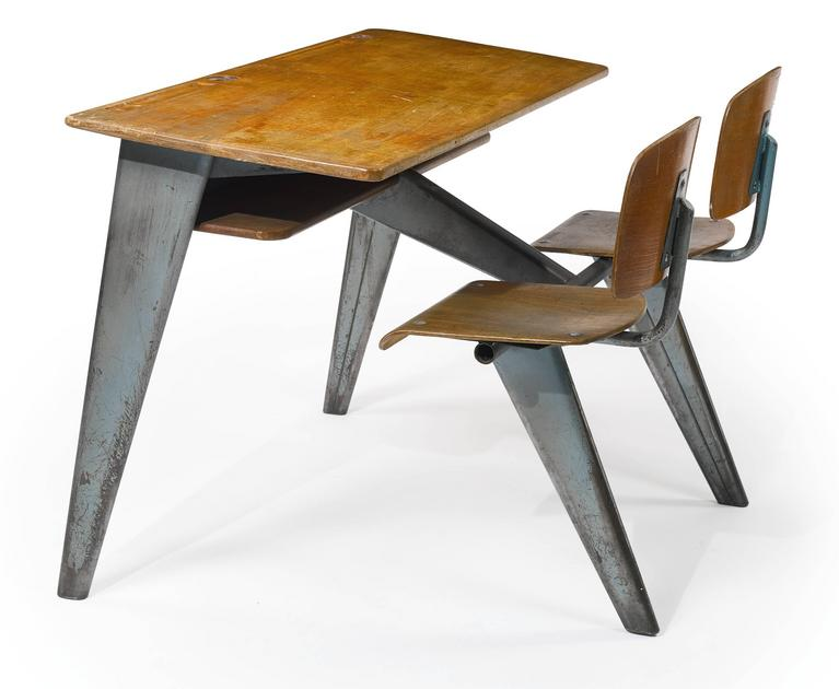 1946 Students' Desk by Jean Prouvé 9