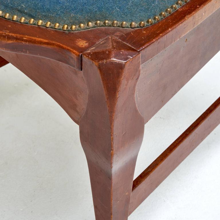 Brass Jugendstil Chair by Richard Riemerschmid For Sale