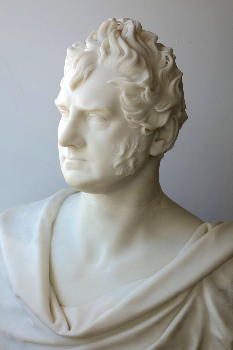Neoclassical Marble Portrait Bust of George Boole, F.R.S. by Thomas Earle For Sale