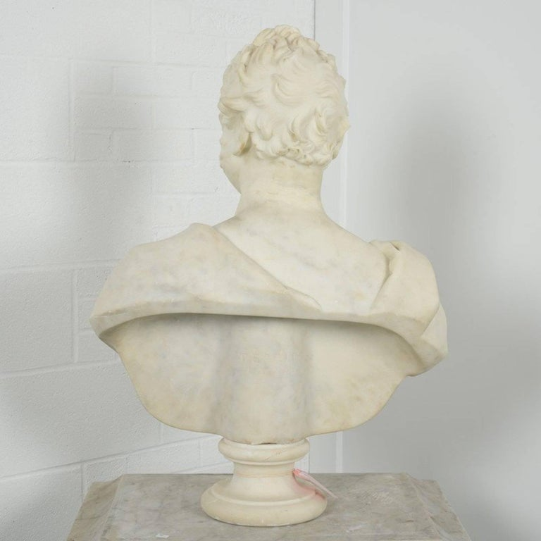 Marble Portrait Bust of George Boole, F.R.S. by Thomas Earle For Sale 2