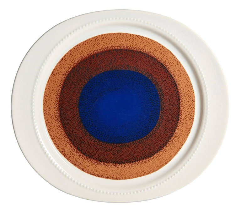 Glazed Set of Ten Porcelain Plates by Verner Panton for Rosenthal For Sale