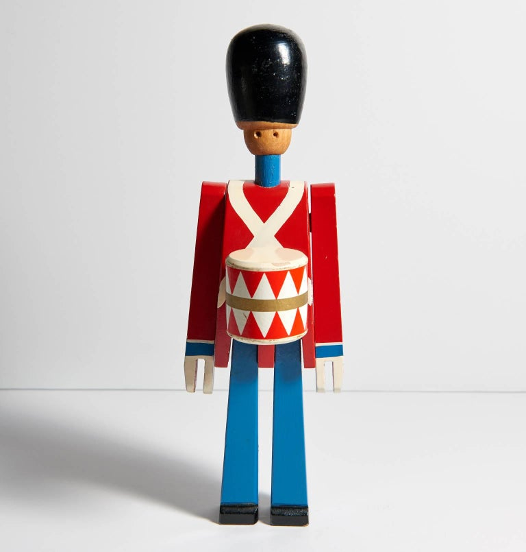 Hand-Painted Wooden Danish Royal Guardsman by Kay Bojesen 2