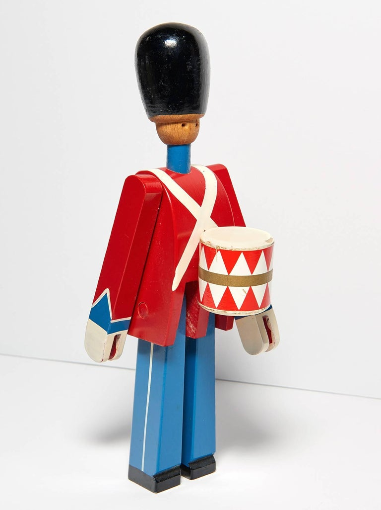 Hand-Painted Wooden Danish Royal Guardsman by Kay Bojesen 3