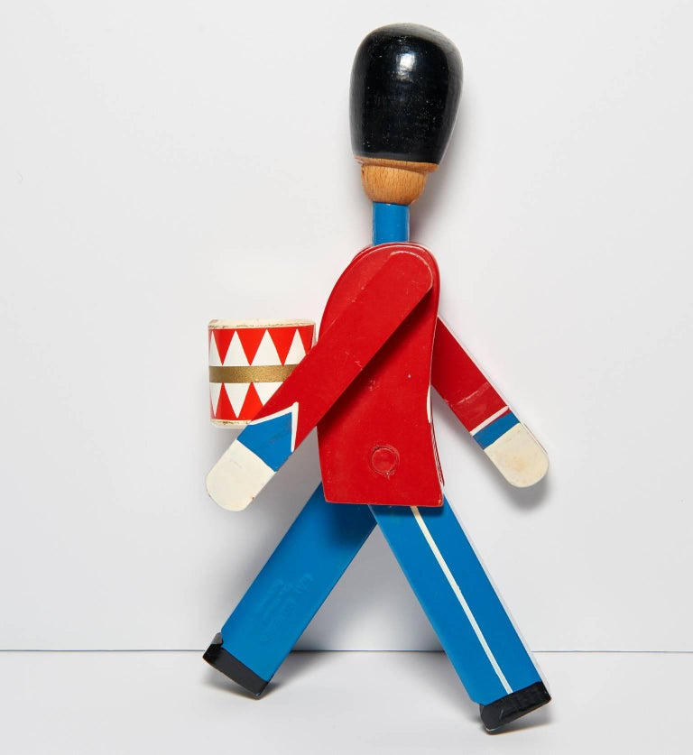 Hand-Painted Wooden Danish Royal Guardsman by Kay Bojesen 6