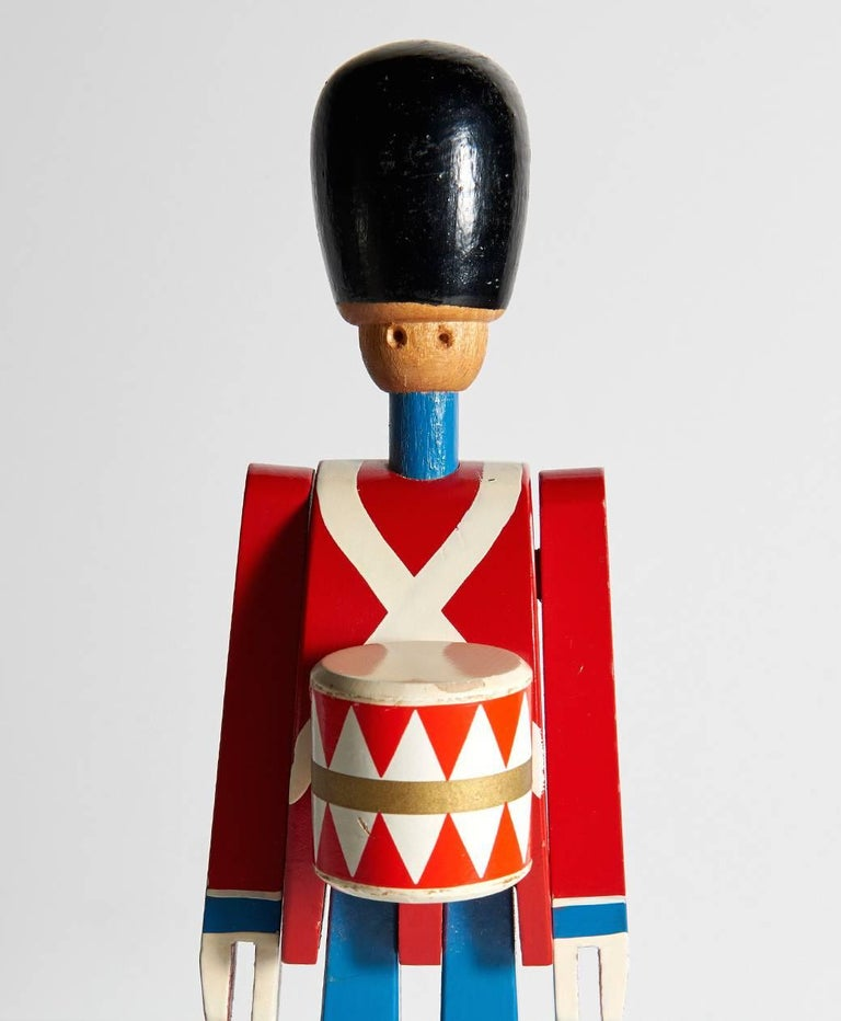 Hand-Painted Wooden Danish Royal Guardsman by Kay Bojesen 7