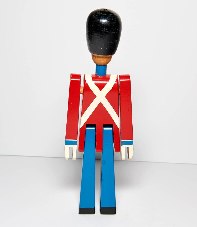 Hand-Painted Wooden Danish Royal Guardsman by Kay Bojesen 9
