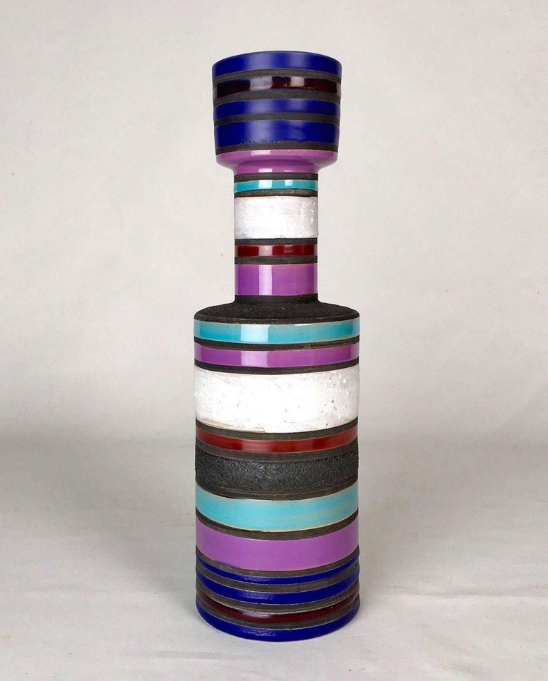 """""""Rochetto"""" Vase by Ettore Sottsass In Excellent Condition For Sale In Los Angeles, CA"""