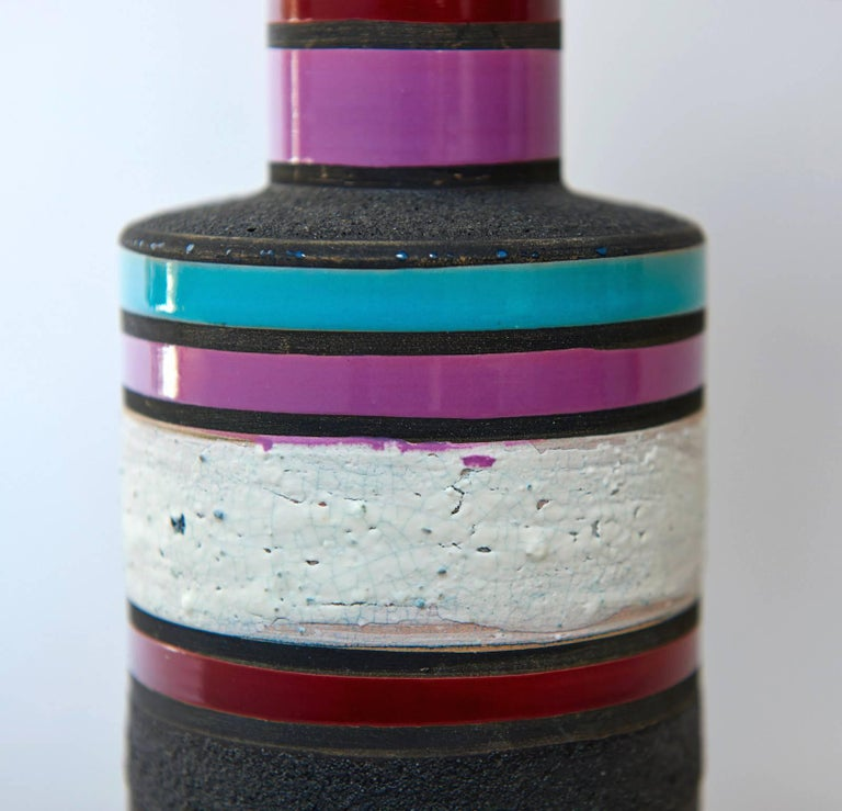 """Earthenware """"Rochetto"""" Vase by Ettore Sottsass For Sale"""