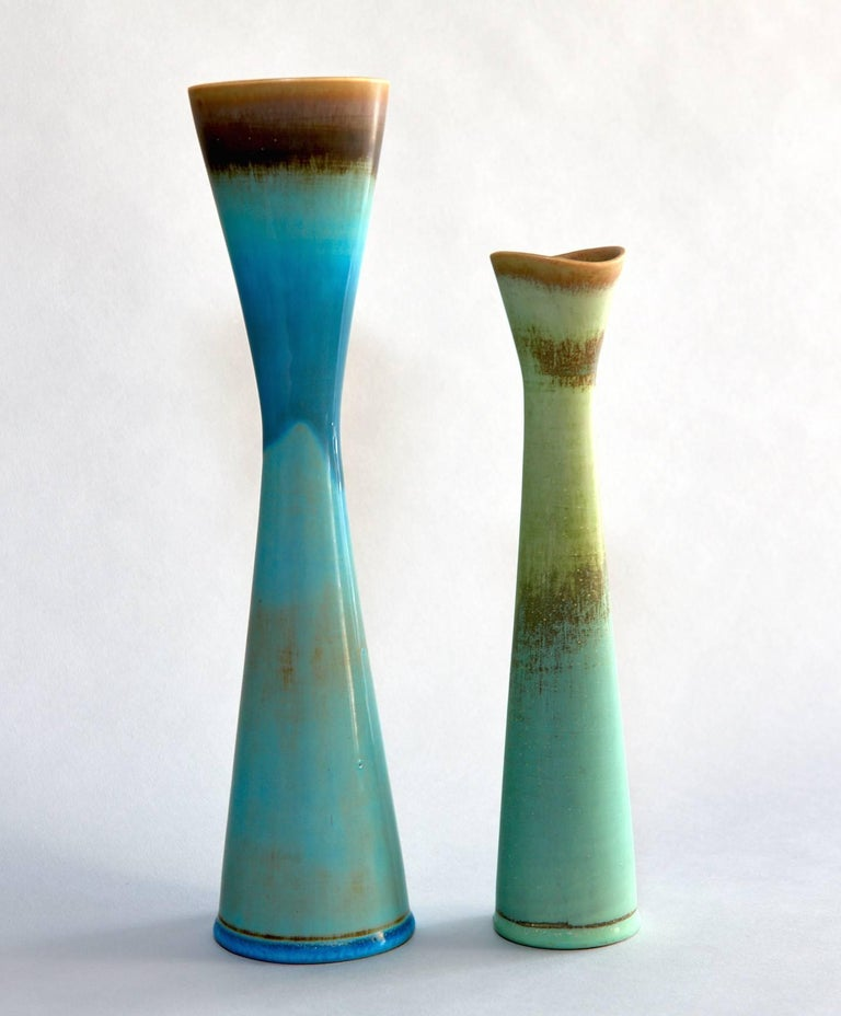 20th Century Six Studio Vases by Stig Lindberg For Sale