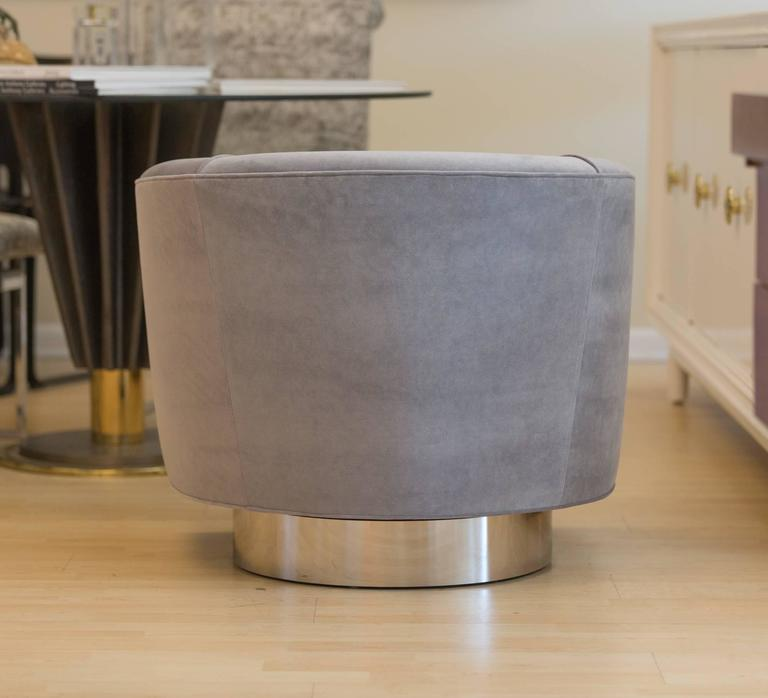 Pair of Milo Baughman Bucket Swivel Chairs 5