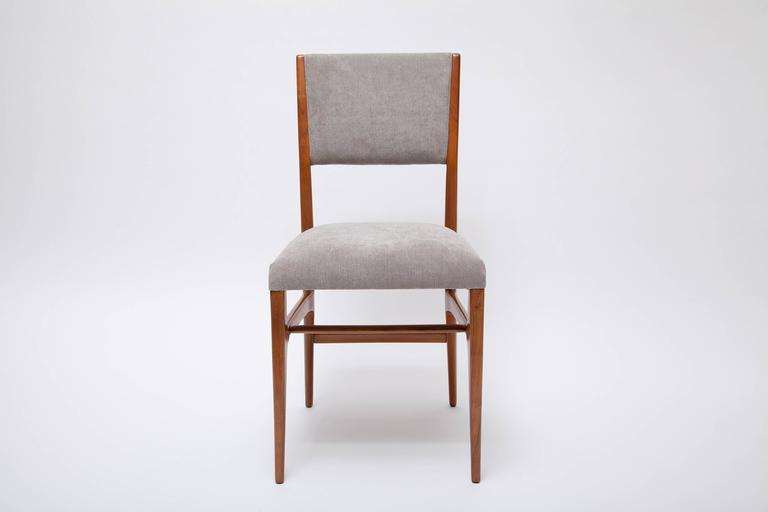 Set of Four Dining Chairs by Gio Ponti for Singer & Sons In Excellent Condition For Sale In North Miami, FL