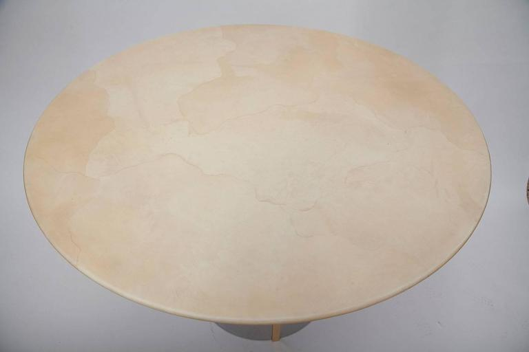 American Modern 1970's Parchment Center Table in the Manner of Karl Springer For Sale