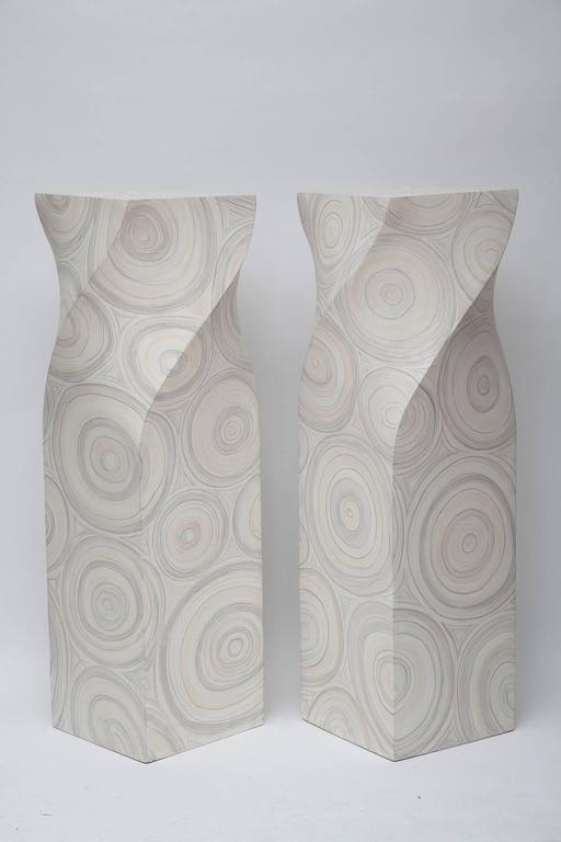 American Modern 1970s Springer-Style Pedestals For Sale