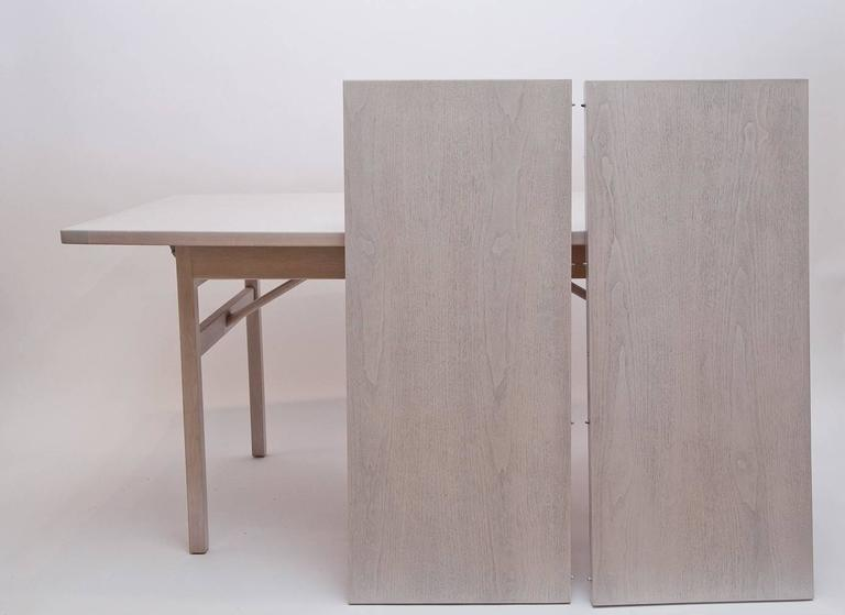 Jens Risom Bleached Walnut Dining Table For Sale 4