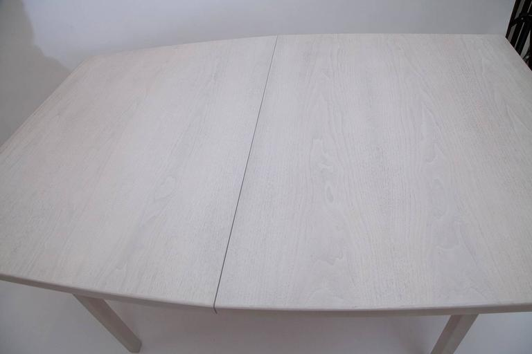American Jens Risom Bleached Walnut Dining Table For Sale