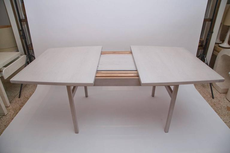 Jens Risom Bleached Walnut Dining Table For Sale 3