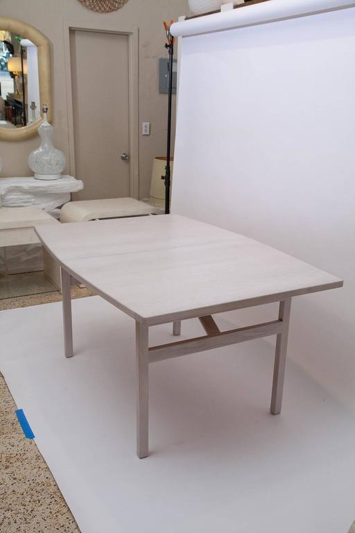 Jens Risom Bleached Walnut Dining Table For Sale 1