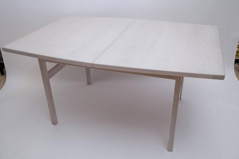 Mid-Century Modern Jens Risom Bleached Walnut Dining Table For Sale