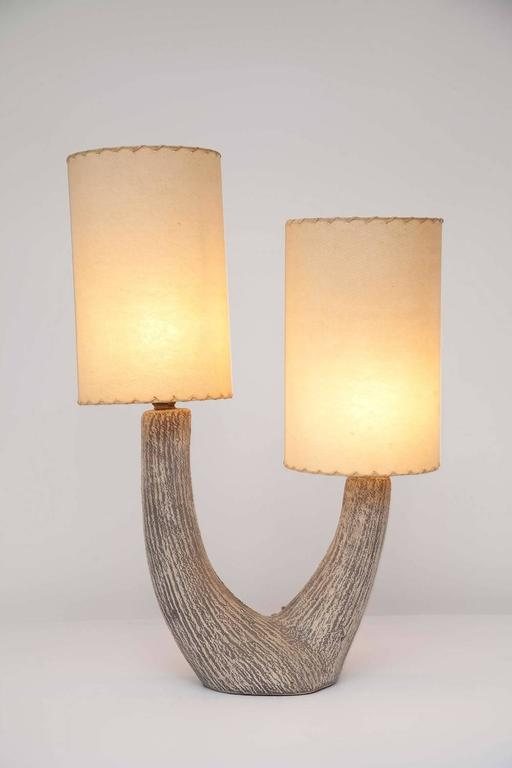 Mid-Century Modern American Modernist Ceramic Lamp by Kelby For Sale