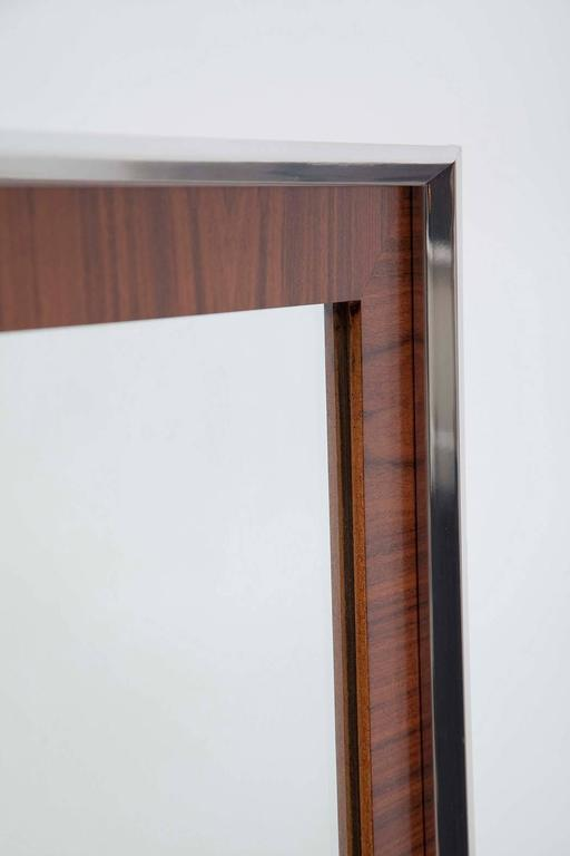 1960s Modernist Walnut And Polished Aluminium Mirrors For