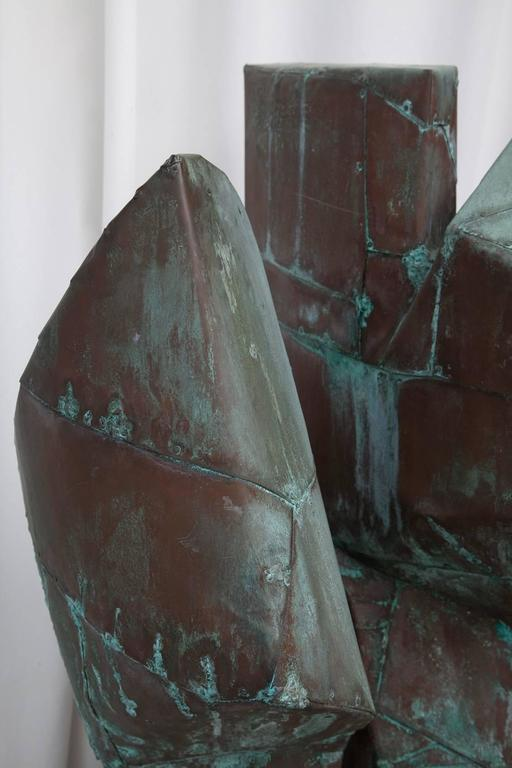 Large Copper Clad Abstract Sculpture Attributed to Bill Anson 4