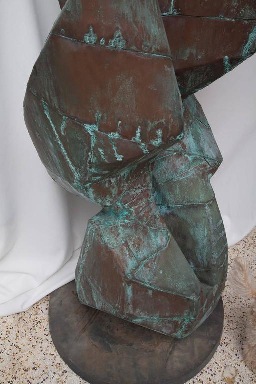 Large Copper Clad Abstract Sculpture Attributed to Bill Anson 8
