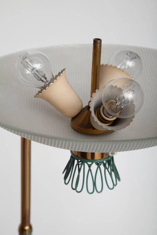 Green Enamel Midcentury Italian Floor Lamp 8