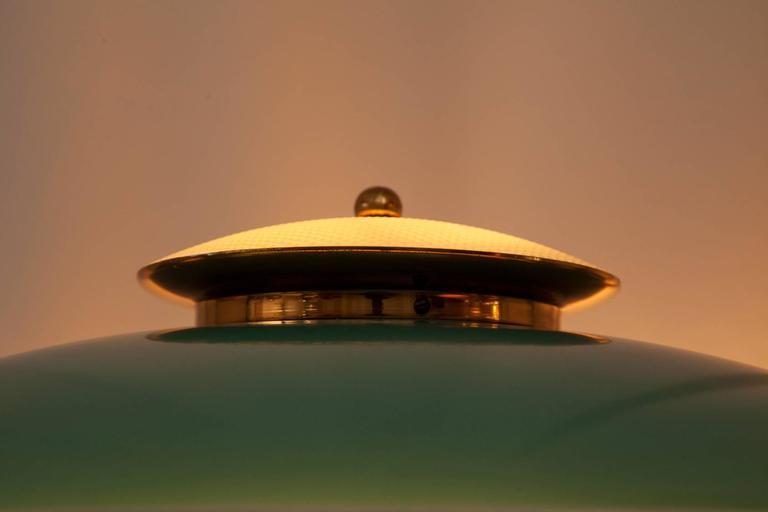 Green Enamel Midcentury Italian Floor Lamp 6