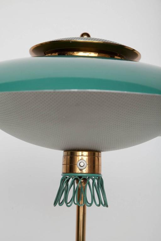 Green Enamel Midcentury Italian Floor Lamp 3