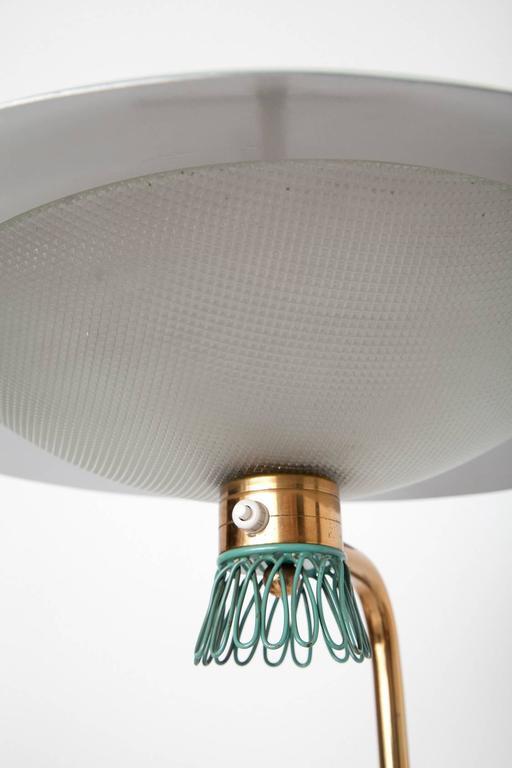 Green Enamel Midcentury Italian Floor Lamp 7