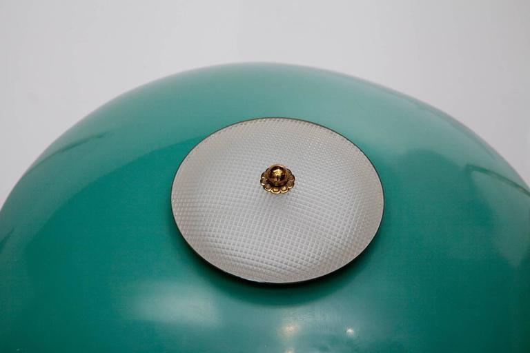 Green Enamel Midcentury Italian Floor Lamp 5