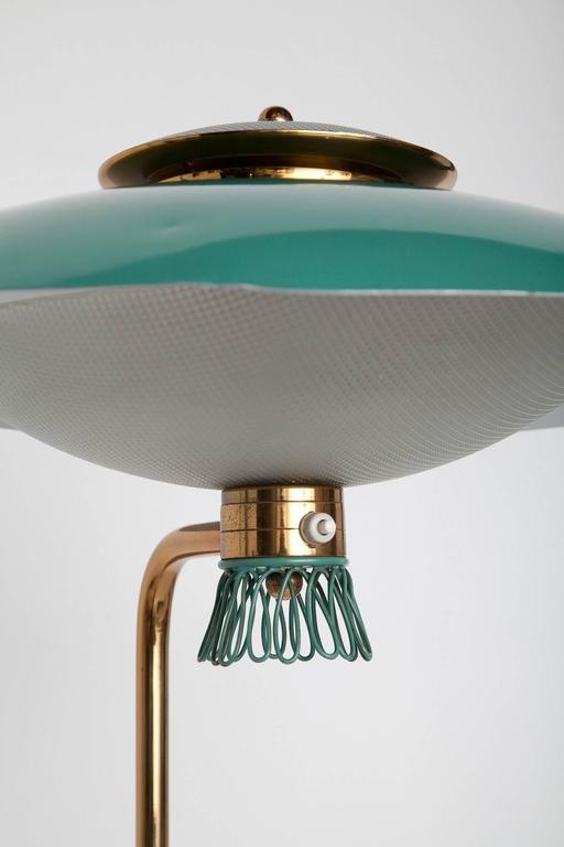 Green Enamel Midcentury Italian Floor Lamp 4