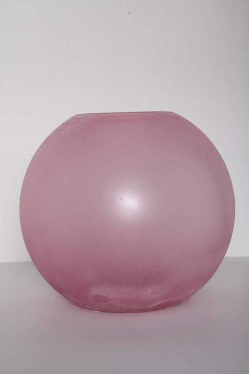 Late 20th Century Large Pink Murano