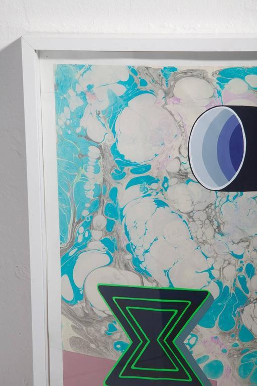 Michelle Weinberg Gouache on Marbleized Paper 3