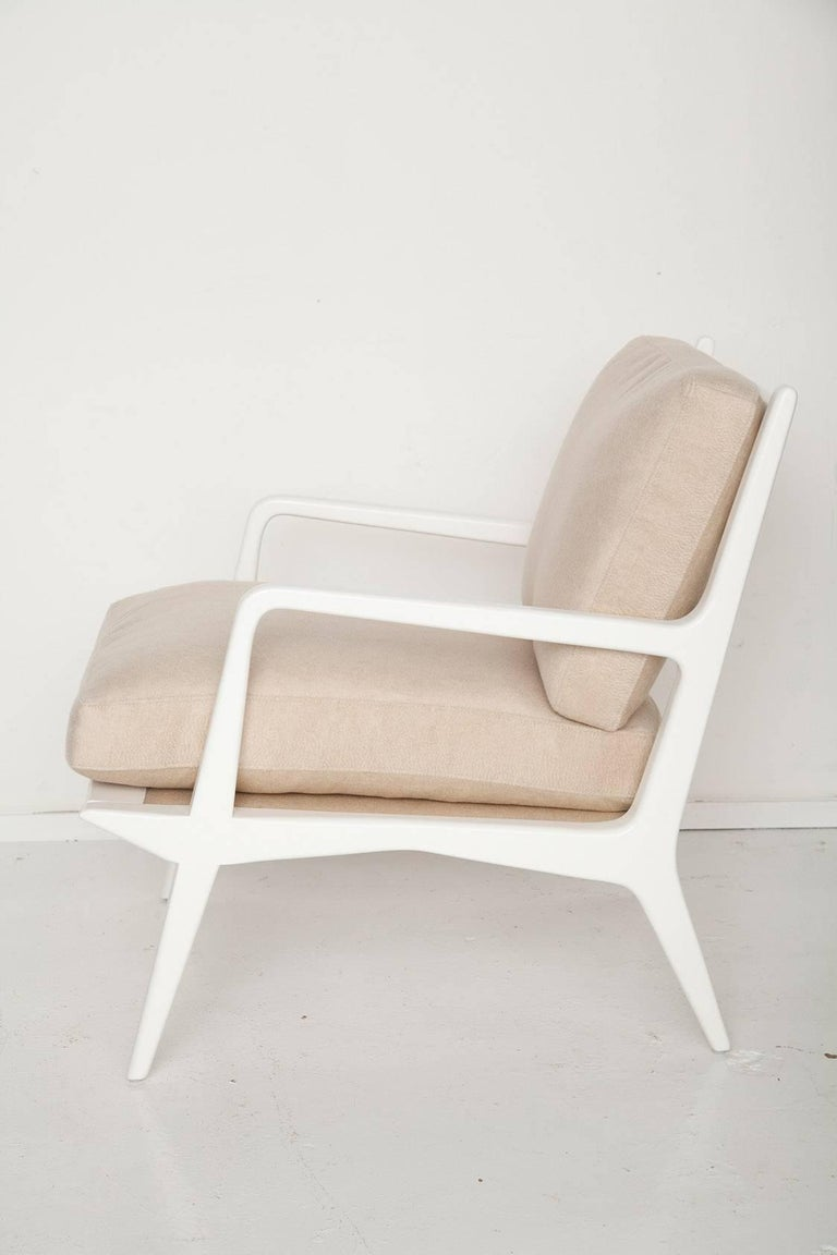 Carlo Di Carli Cashmere Upholstered Lounge Chair for Singer & Sons, Circa 1955 2