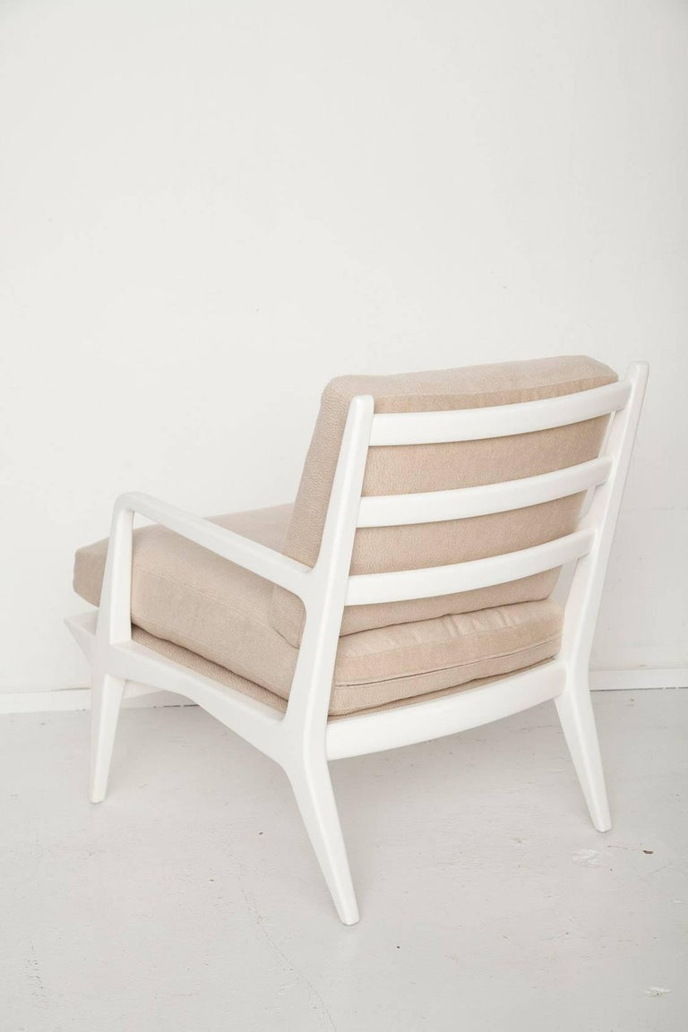 Carlo Di Carli Cashmere Upholstered Lounge Chair for Singer & Sons, Circa 1955 3