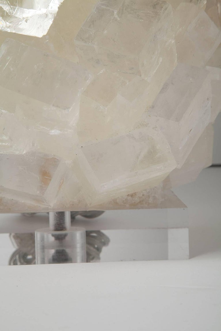 Pair of Calcite Crystal Table Lamps by Kathryn McCoy For Sale 2