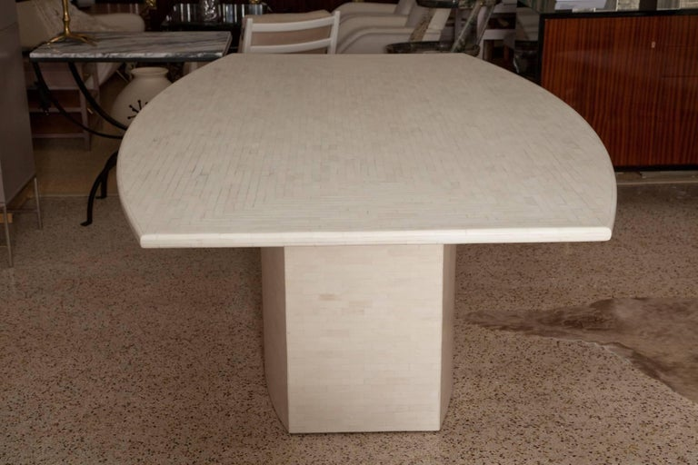 Organic Modern Tessellated Bone Dining Table by Enrique Garces For Sale