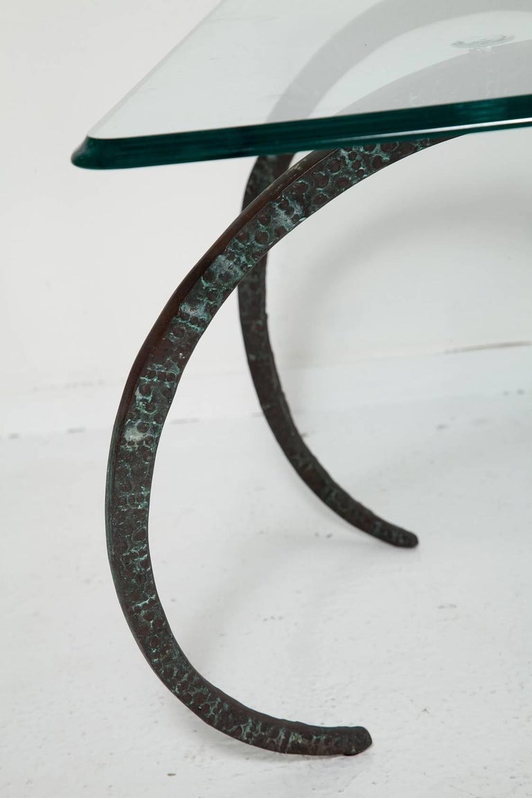 Patinated Bronze Ibex Coffee Table in the Manner of Alain Chervet For Sale 1
