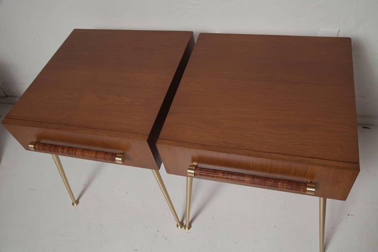 American Fully Restored End Tables or Nightstands by T.H. Robsjohn-Gibbings for Widdicomb For Sale