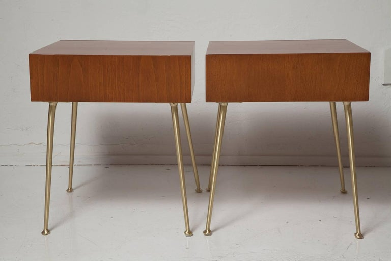 Mid-Century Modern Fully Restored End Tables or Nightstands by T.H. Robsjohn-Gibbings for Widdicomb For Sale
