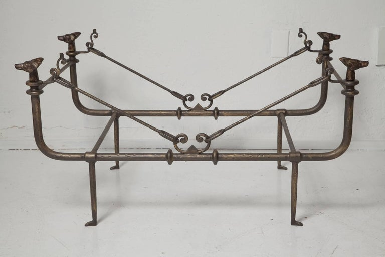 Coffee Table in the Manner of Giacometti In Good Condition For Sale In North Miami, FL