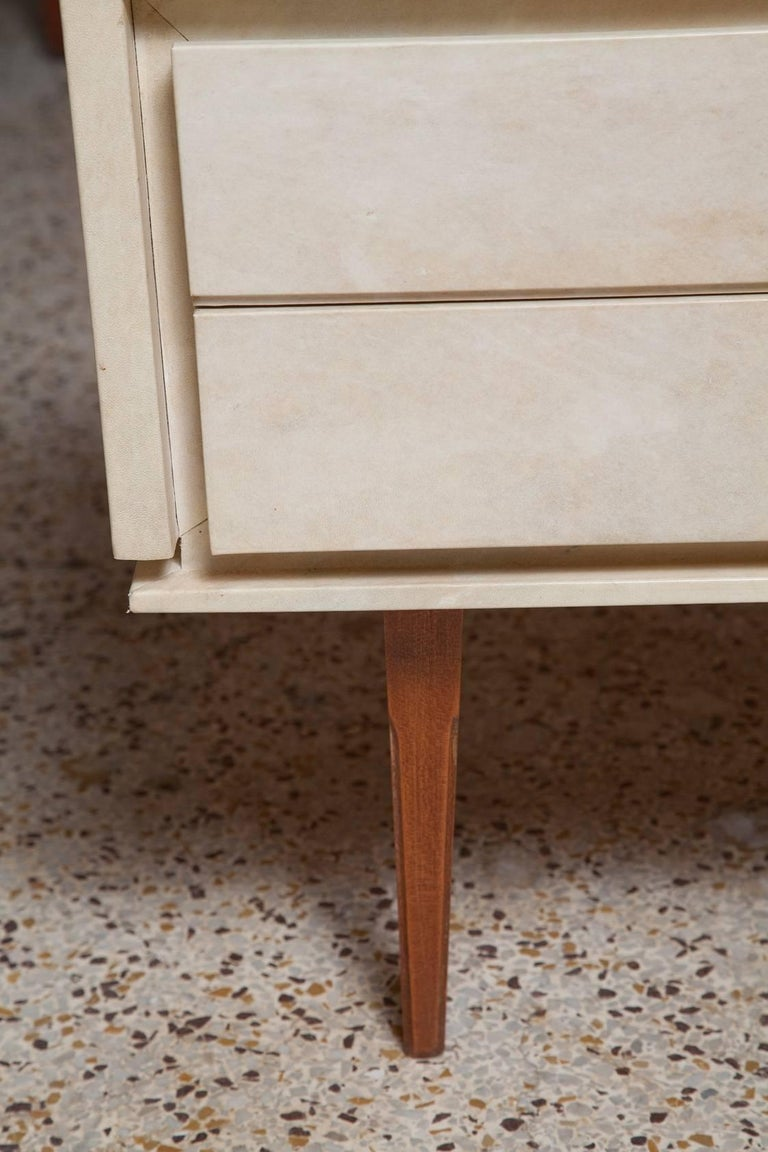 Pair of French Parchment Nightstands, circa 1960 For Sale 7