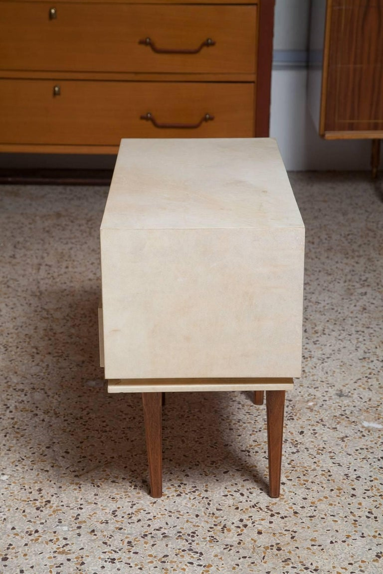 Pair of French Parchment Nightstands, circa 1960 For Sale 6
