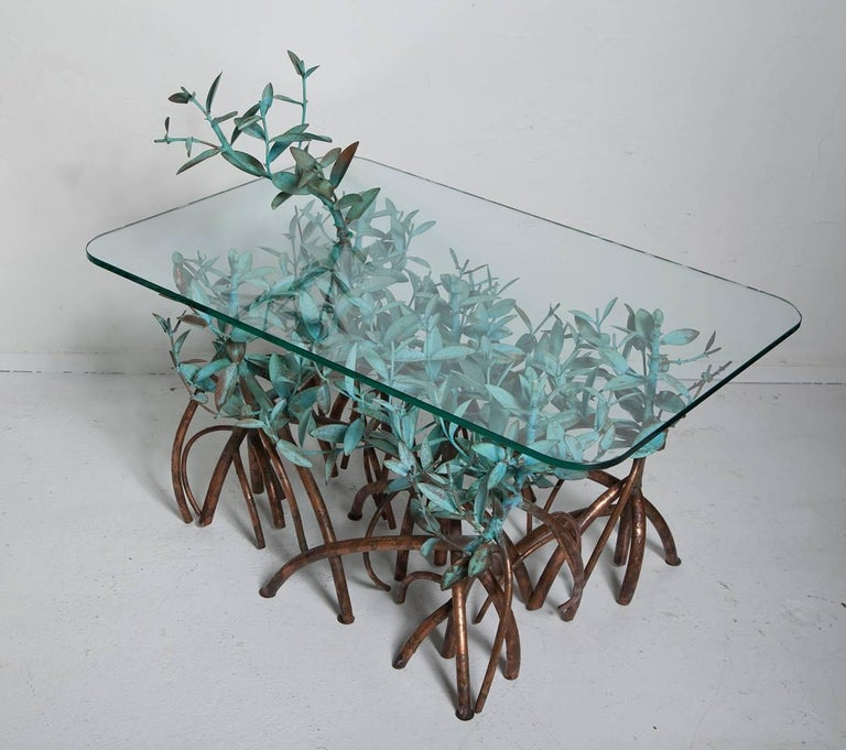 Organic Modern Copper Mangrove Coffee Table by Garland Faulkner For Sale