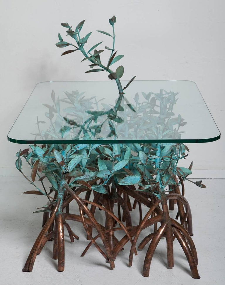 American Copper Mangrove Coffee Table by Garland Faulkner For Sale