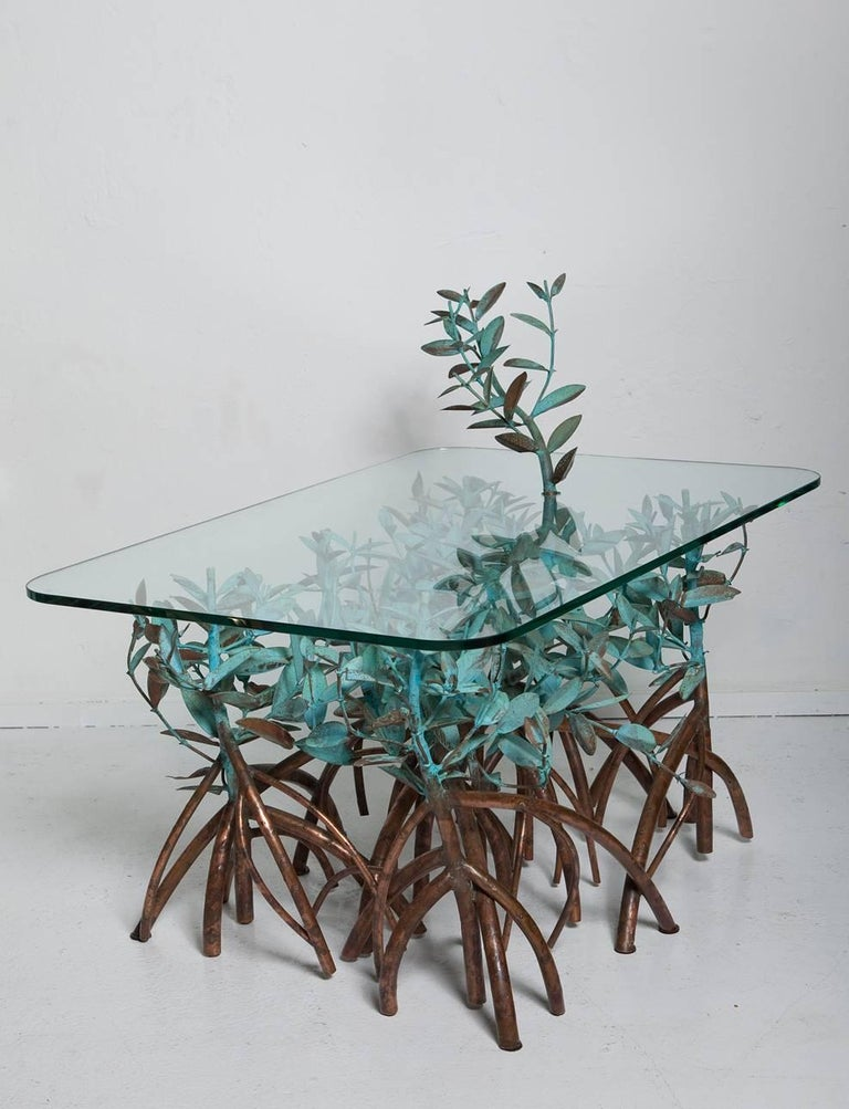 Hand-Crafted Copper Mangrove Coffee Table by Garland Faulkner For Sale