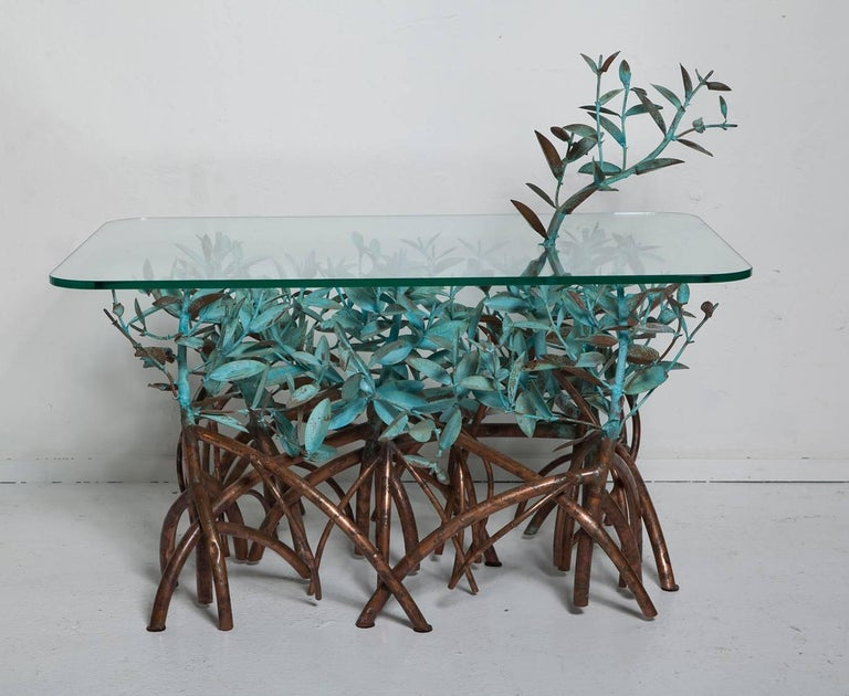 Copper Mangrove Coffee Table by Garland Faulkner In Good Condition For Sale In North Miami, FL