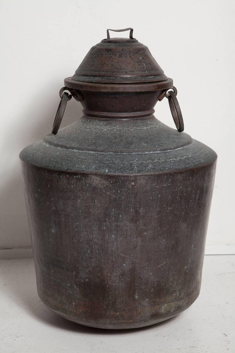 Anglo-Indian Giant Bronze Lidded Vessel For Sale